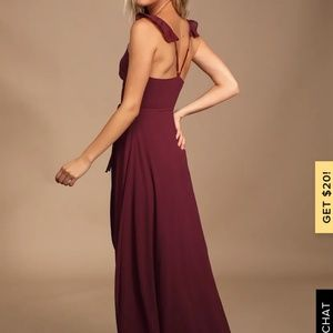 Lulu's Dresses - Lulu's Burgundy Bridesmaid Dress